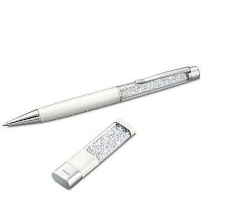 Swarovski Crystalline Usb Key and Ballpoint Pen Set