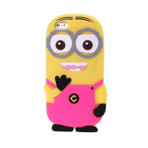 Minions Silicone Case for iPhone 6 Magenta