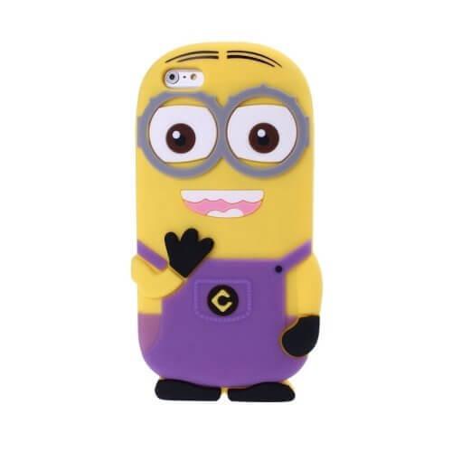 Minions Silicone Case for iPhone 6 Purple