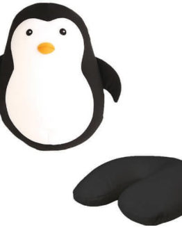 Kikkerland Zip Flip Travel Pillow Penguin