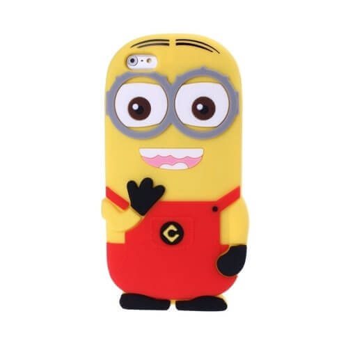 Minions Silicone Case for iPhone 6 Red