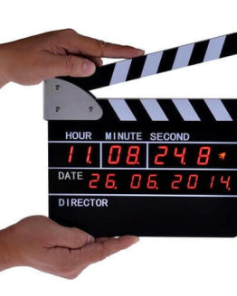Clapperboard Style Digital Alarm Clock