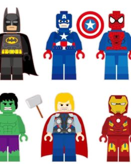 Lego Super Hero Characters Removable Wall Stickers Decal