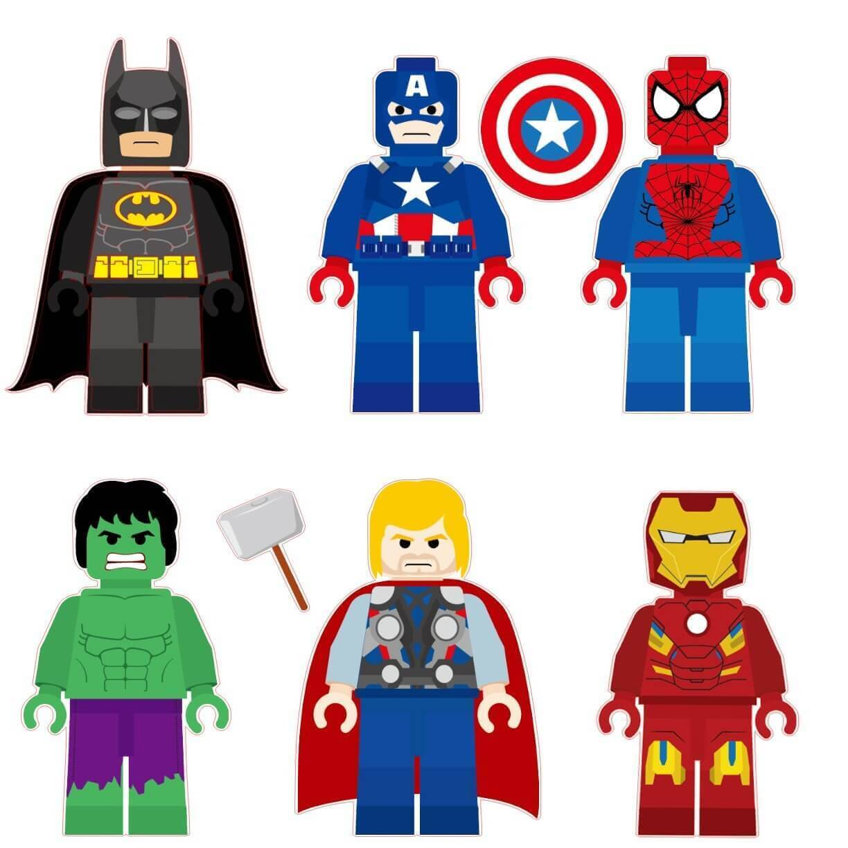 Lego Super Hero Removable Wall Decal Huntsimply