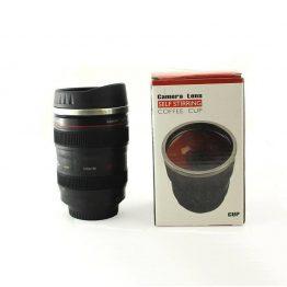 Self Stirring Camera Lens Travel Coffee Mug