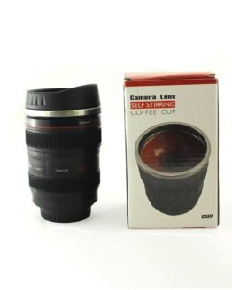 Self Stirring Camera Lens Travel Coffee Mug