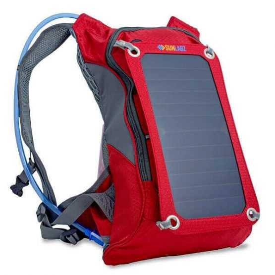 Solar Charger Backpack with Hydration