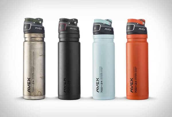AVEX FreeFlow Stainless Autoseal Water Bottle