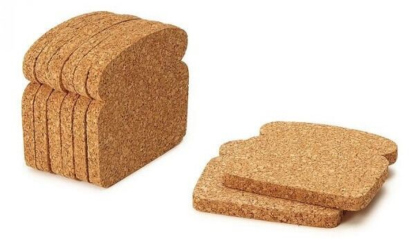 Cork Toast Coasters