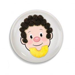 FOOD FACE Kids Dinner Plate