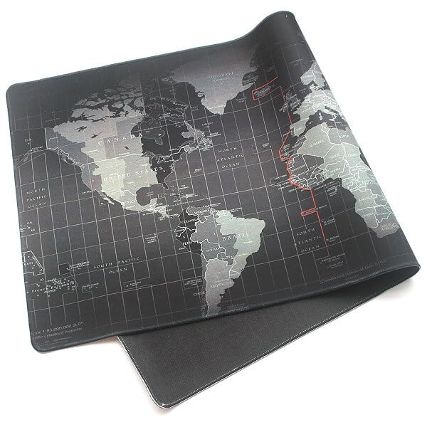Giant World Map Mouse Pad Huntsimply