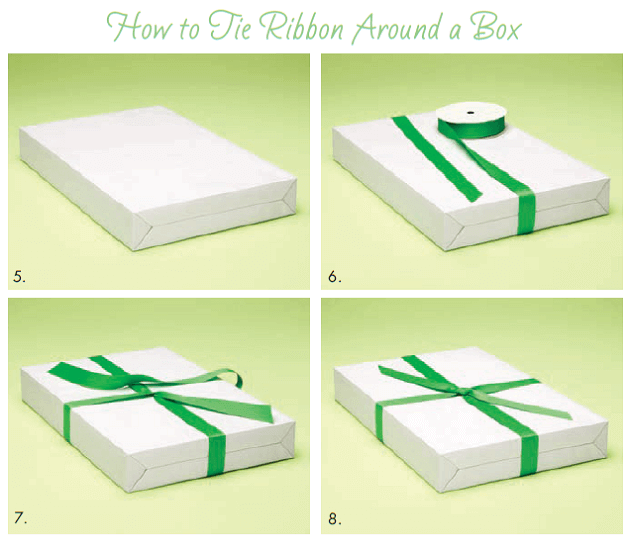 How to Tie Ribbon Around a Box
