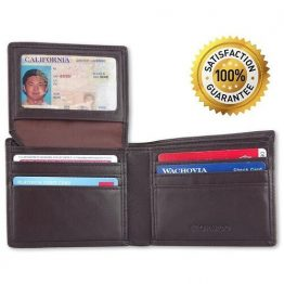 Leopardd Rfid Blocking Trifold Leather Wallet