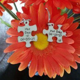 Personalized Puzzle Piece Necklace Set