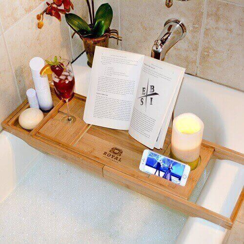 Royal Craft Wood Bamboo Bathtub Caddy