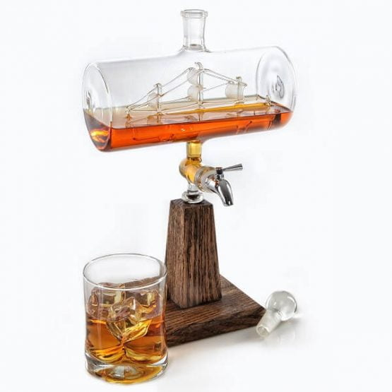 Ship In A Bottle Liquor Decanter