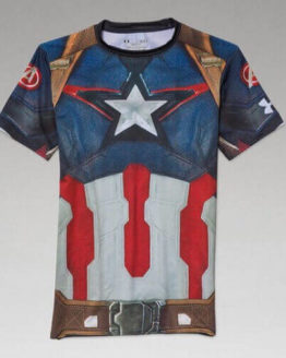 Avengers Alter Ego Compression Shirt - Captain America