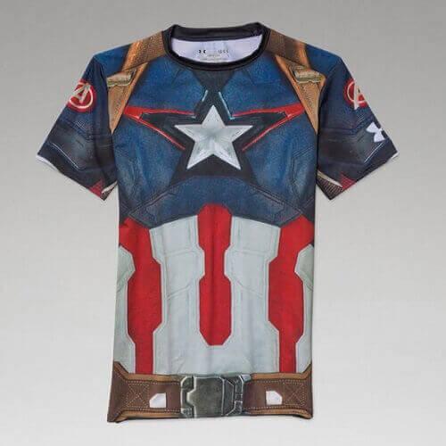 Avengers Alter Ego Compression Shirt - Captain America
