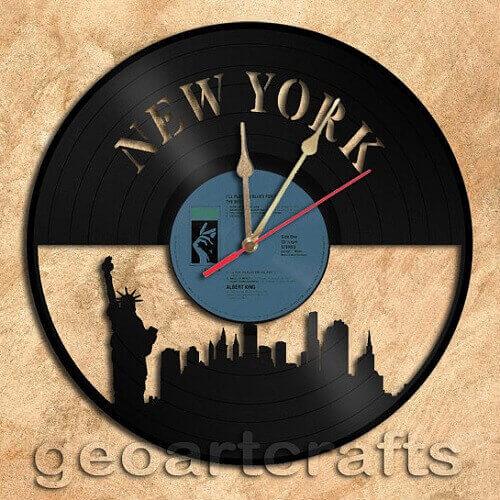 Vinyl Clock Art