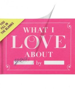 What I Love about You Fill in the Love Journal