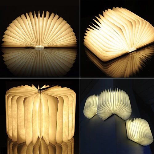 Wooden Folding LED Book Lamp