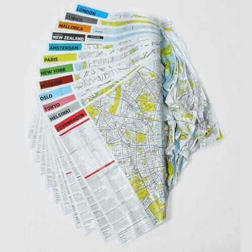 Crumpled City Map