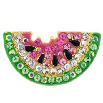 Watermelon Swarovski Crystal Pin Brooch