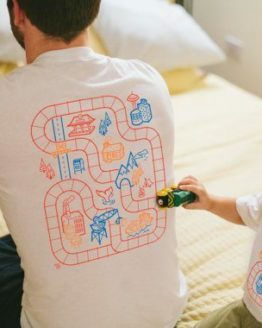 Father Son Matching Play Mat T-shirts