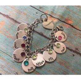 Personalized Stamped Charm Bracelet