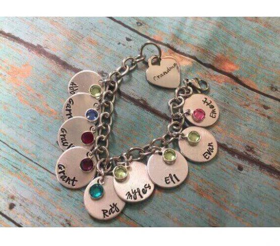 Personalized Stamped Charm Bracelet