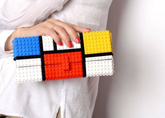Mondrian tribute clutch