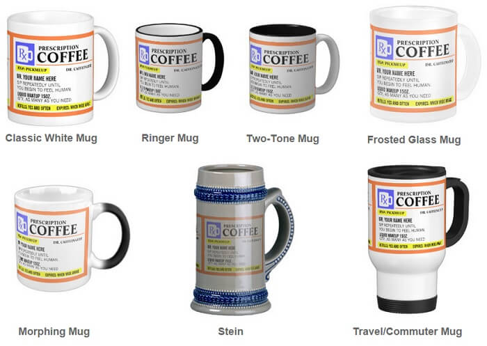Funny Prescription Mug Styles