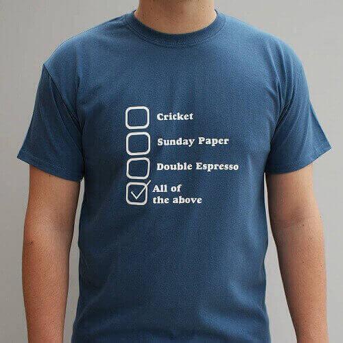 Personalised His Fav Things T Shirt