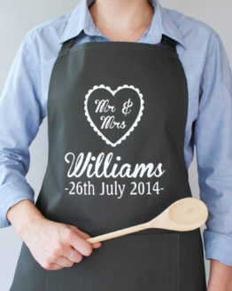 Personalised Mr and Mrs Wedding Apron