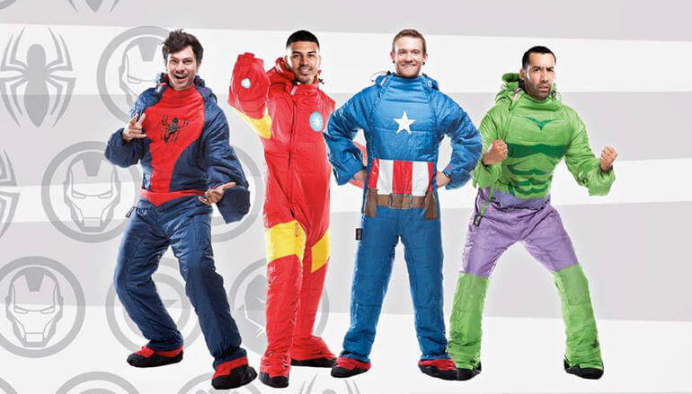 Selk'bag Marvel Sleeping Bag Guys