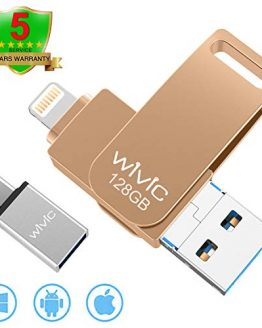 WIVIC 128GB Gold 4-in-1 Flash Drive